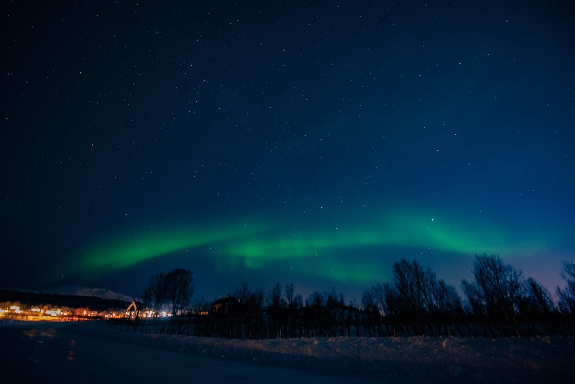 Tromsø under Nordlys